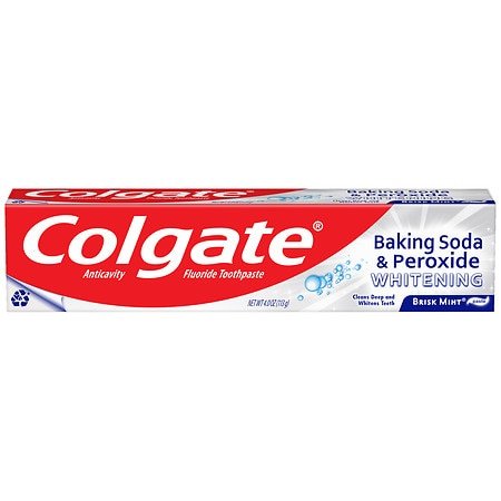 Colgate Baking Soda and Peroxide Whitening Toothpaste Brisk Mint - 4.0 oz