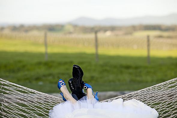 My Blue Wedding Shoes