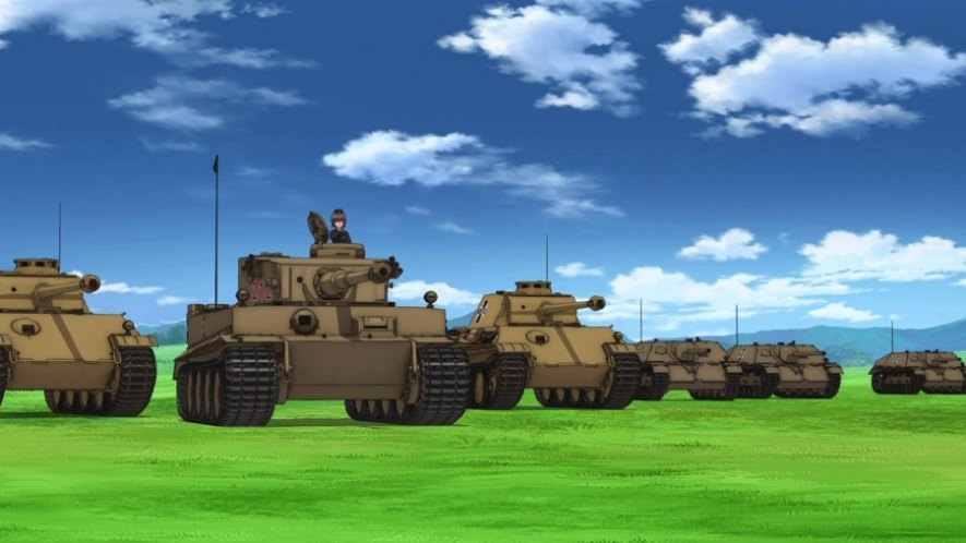 """Here are the best quality tanks coloring pages for boys of all ages. IMCDb.org: 1942 Henschel Pz.Kpfw.VI 'Tiger' Ausf. E in """"Girls und Panzer, 2012-2013"""""""