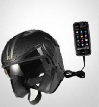 Шлем - зарядник для телефона (концепт)