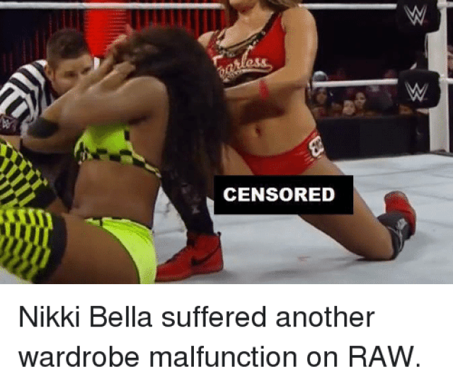 World Wrestling Entertainment Http And Suffering Censored Nikki Bella Suffered Another Wardrobe Malfunction