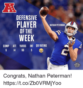 Image result for nathan peterman int