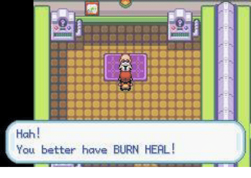 Image result for gonna need a burn heal""