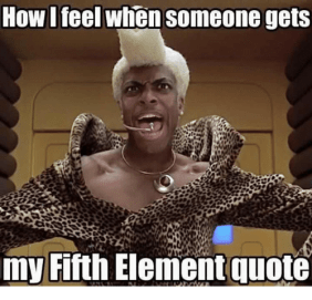 Image result for 5th element meme