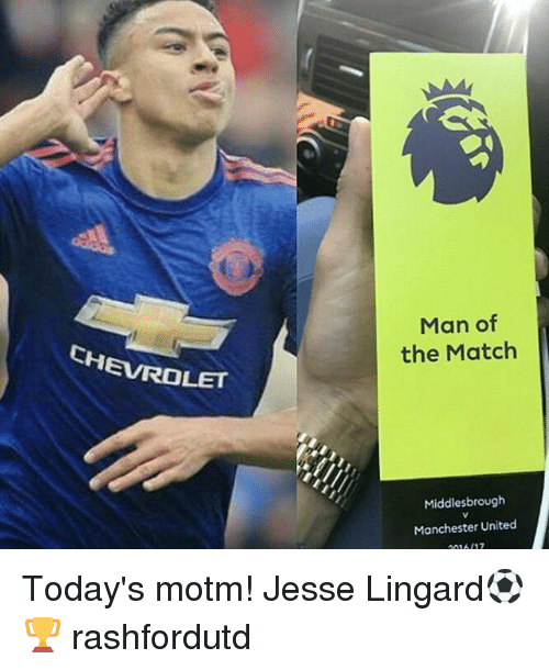 Man of the Match Middlesbrough Manchester United Today's ...