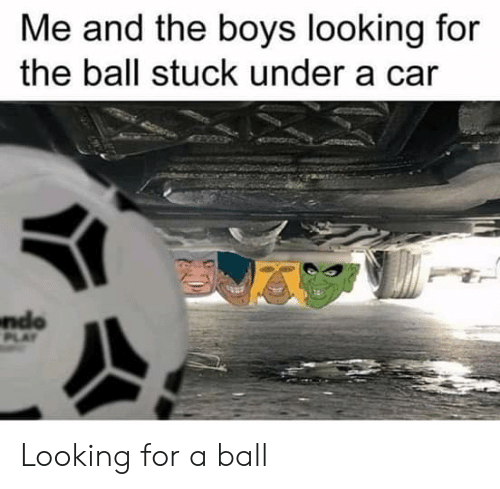Image result for ball stuck under car