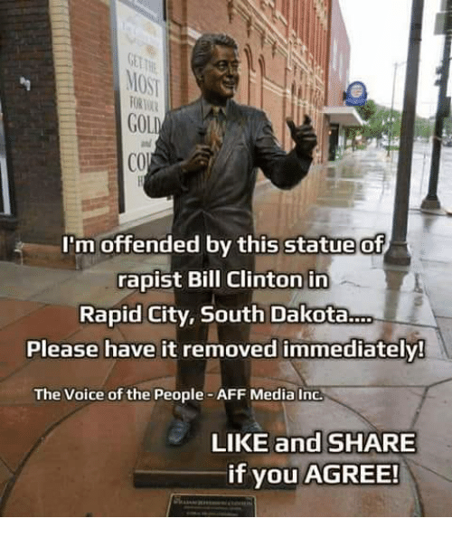 OST TOR VIA GOL CO I'm Offended by This Statue of Rapist Bill ...
