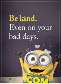25  Best Positive Funny Memes   Minion Quote Memes  the Lego Batman     Memes            and Minion Quotes  Be kind Even on your bad days