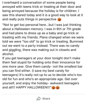 Image result for teens trick or treating