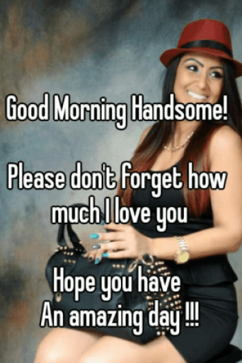 flirty good morning meme for her