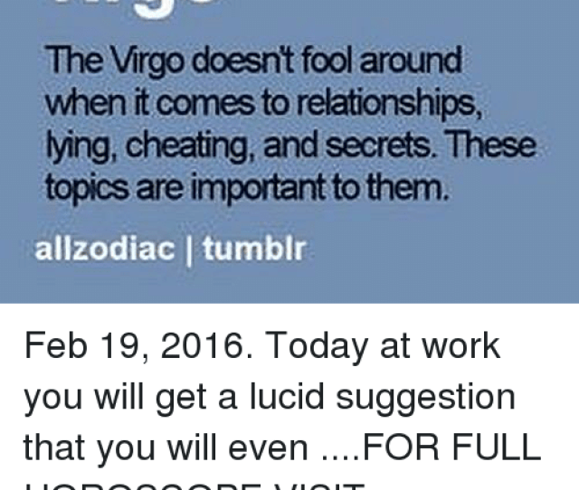 Cheating Relationships And Tumblr Virgo The Virgo Doesnt Fool Around When