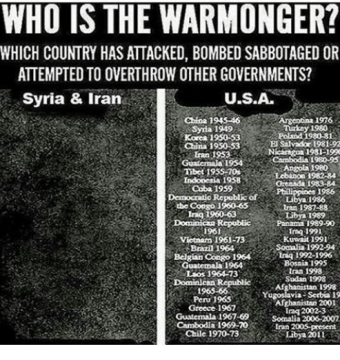 WHO IS THE WARMONGER? WHICH COUNTRY HAS ATTACKED BOMBED ...