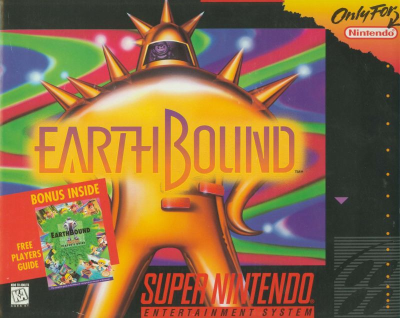 EarthBound SNES Front Cover