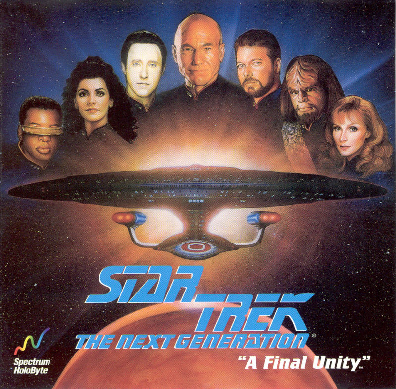 Star Trek: The Next Generation - A Final Unity DOS Other Jewel Case - Front