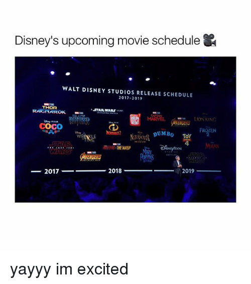 Disney's Upcoming Movie Schedule WALT DISNEY STUDIOS ...