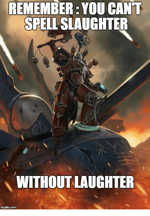 You Cant Spell Laughter Without Slaughter