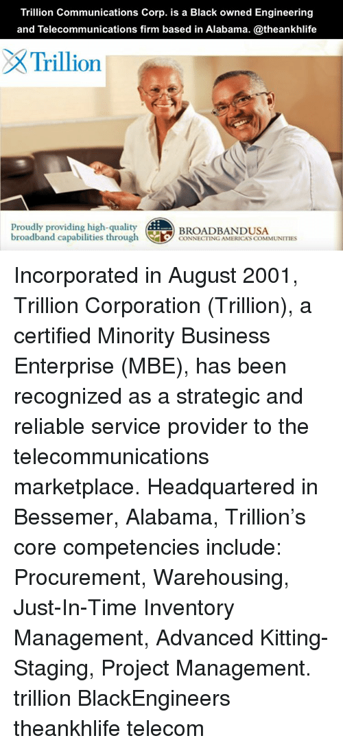 Trillion Communications Corp Is a Black Owned Engineering ...