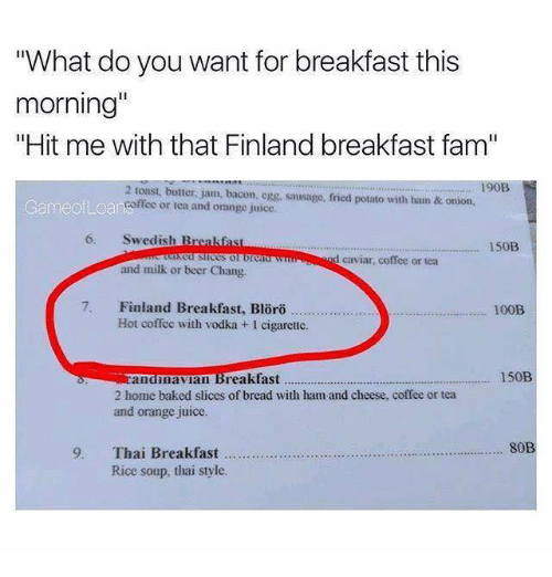 What Do You Want Breakfast Meme