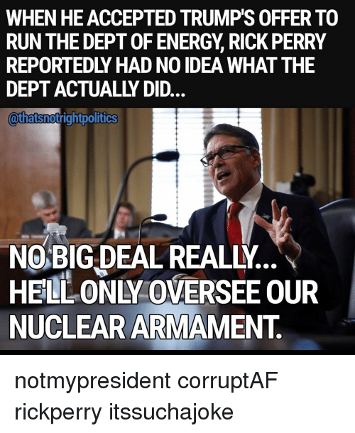 Funny Rick Perry Memes of 2017 on SIZZLE   Perry