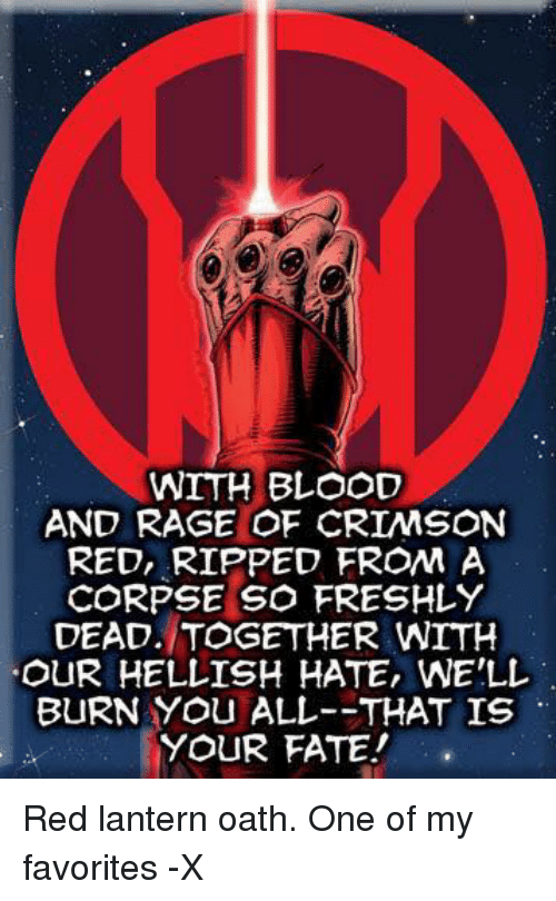 25+ Best Memes About Red Lanterns Oath | Red Lanterns Oath ...