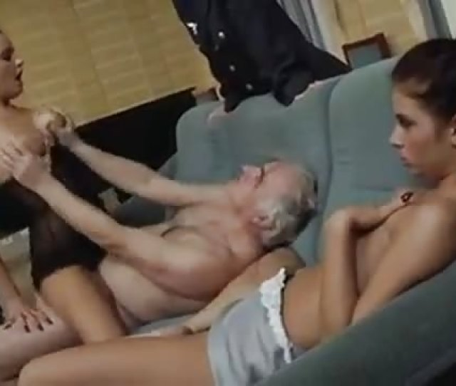 Two Young Babes Fuck Old Man