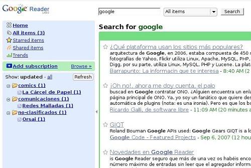 Google Reader ya busca