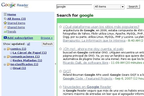 Google Reader ya busca