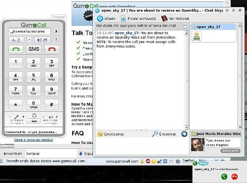 OpenSky, pasarela SIP a Skype vía web