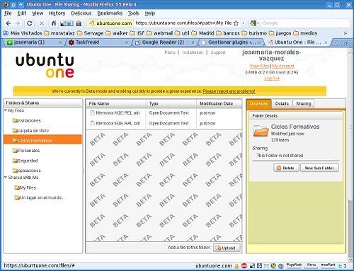 Cliente web de Ubuntu One