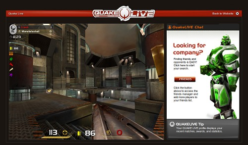 Quake Live en Jolicloud