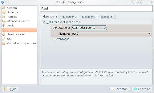 VirtualBox en modo bridge