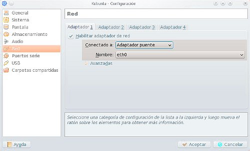 VirtualBox en modo bridge