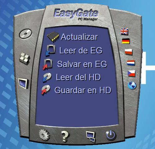 Pantalla inicial de PCManager para el EasyGate de 2N
