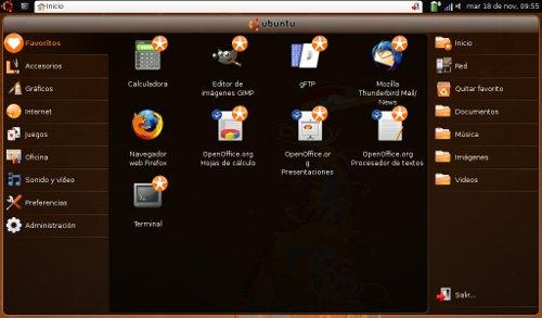 El AspireOne con Ubuntu Netbook Remix