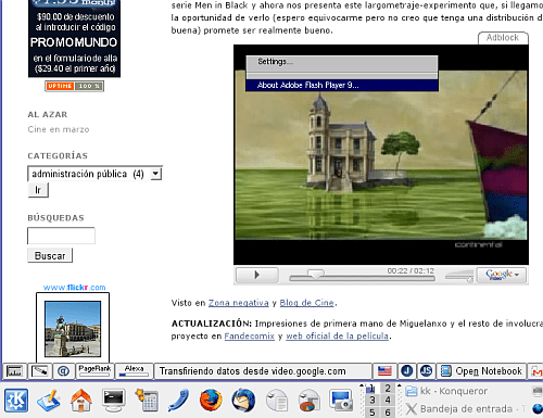 flash player 9 para gnu/linux
