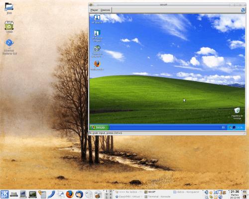 Virtualización con vmplayer