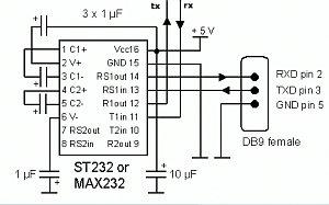 Circuito convertidor RS232-TTL
