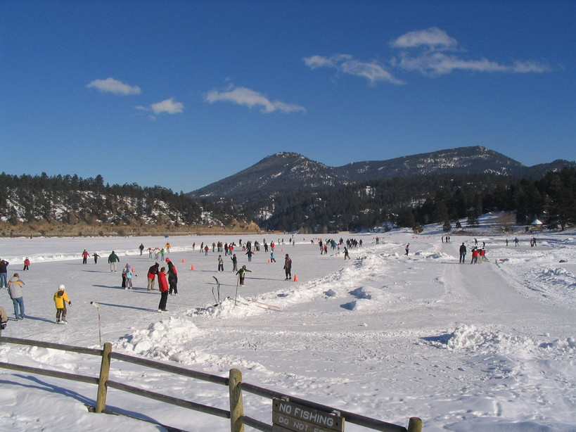 Evergreen, CO : Ice Skating on Evergreen Lake photo, picture ...