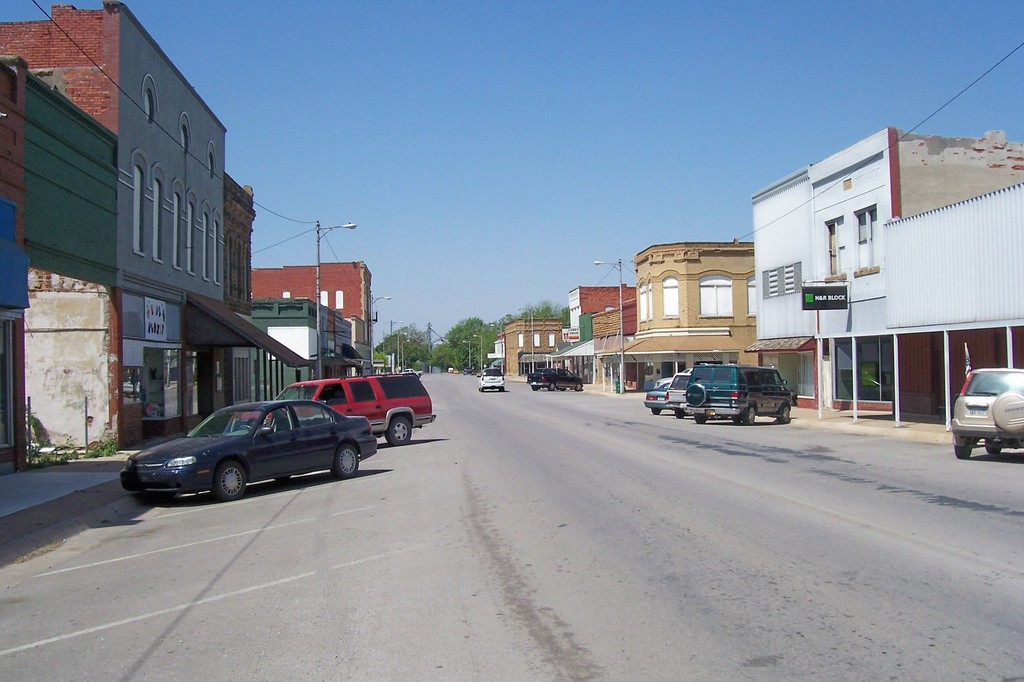 Caney KS On Main Street April 2006 Photo Picture