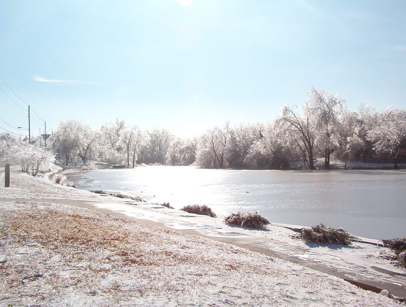 Junction City KS Homer Pond 2007 Ice Storm Photo