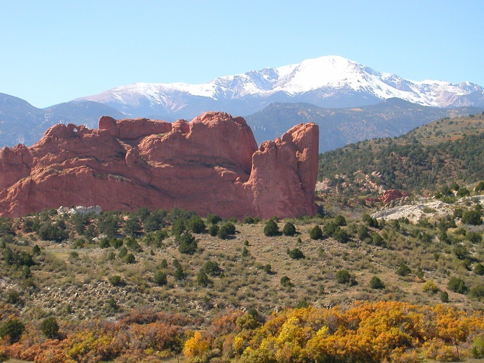 Colorado Springs CO Pikes Peak And Garden Of The Gods