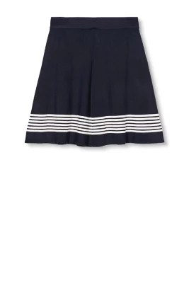 Esprit / Gebreide rok met A-lijn en strepen