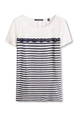 Esprit / Gestreept, fijngebreid shirt van linnen