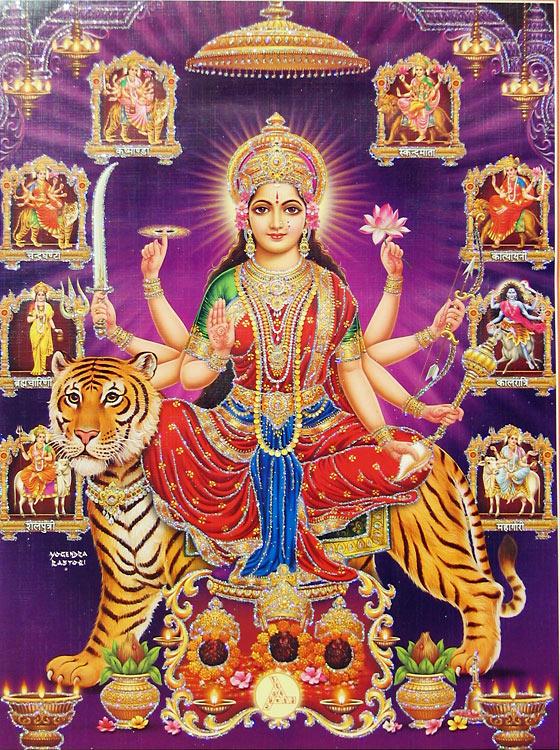 Nava Durga Beautiful HD Wallpaper Pics Download Happy Navratri Ashtami Puja