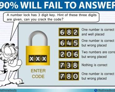 Number Lock Puzzle Image