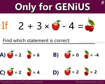 Apple & Cherry Genius Math Puzzle | Solve this puzzle if you are genius | Only for genius puzzle | Brain teasers math puzzles
