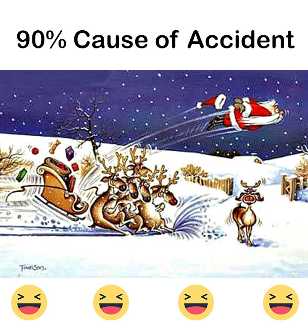 8 Reason why Santa not reached on time on christmas night. Funny Christmas Images. Funny Christmas jokes.