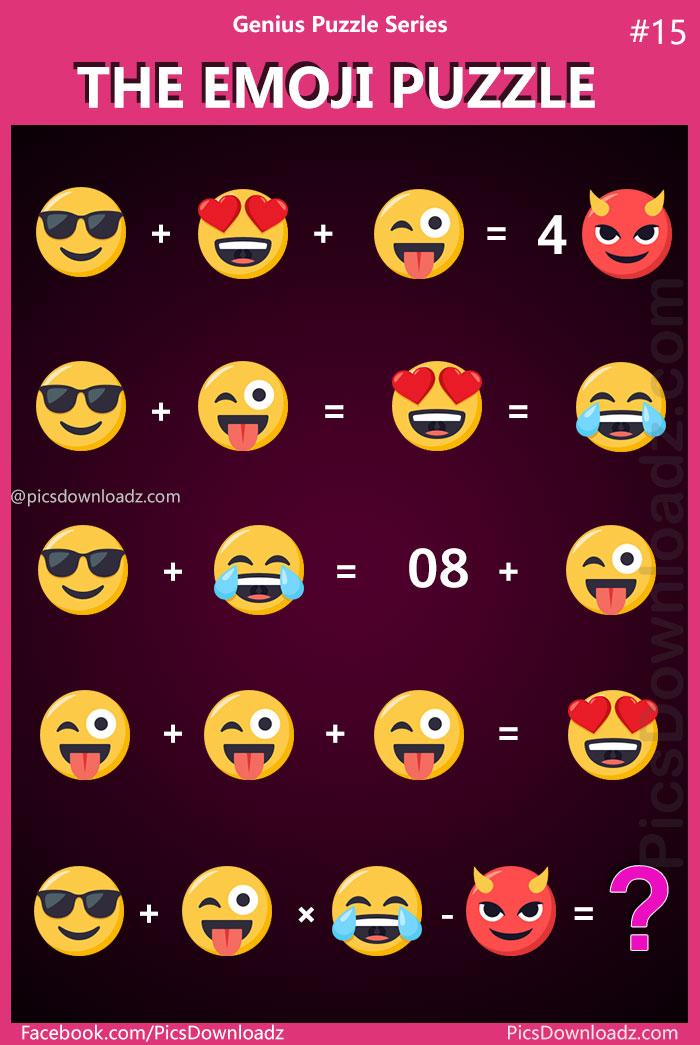 The Emoji Puzzle:Genius Puzzle Series #15