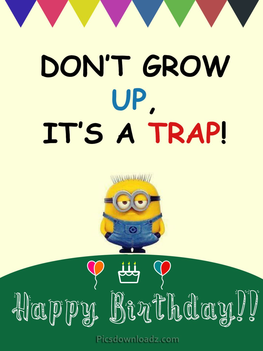 Don't Grow up, It's a trap! Happy Birthday Wishes
