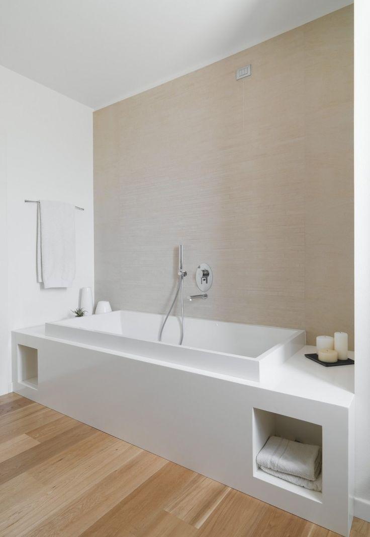 Corian Resine Salle De Bains Deco Design Epuree Blanc